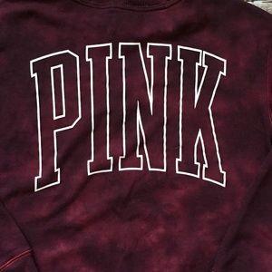 PINK Victoria's Secret Tops - PINK Victoria's Secret Campus Crew Mesh Pullover